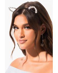AKIRA Ari Crystal Cat Ears - Black