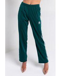 adidas Womens Firebird Three Stripe Track Pant - Green
