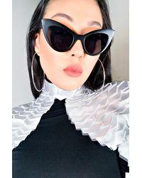 AKIRA Clarece Cat Eye Sunglasses - Black