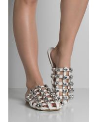 Cape Robbin - Believe It Or Not Studded Slide Sandals - Lyst