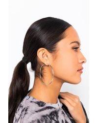 AKIRA Next Level Hoop Earring - Metallic