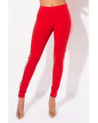 adidas Womens Trefoil Tight - Red