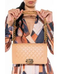 AKIRA - Vibrant Matte Quilted Large Rubber Purse - Lyst