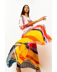 AKIRA Upgrade Stripe Maxi Skirt - Multicolour