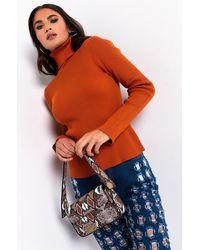 AKIRA Only The Best Long Sleeve Turtleneck Sweater - Orange