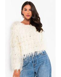 AKIRA Betty Lightweight Sweater - White
