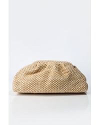 AKIRA Cutie Knit Stitch Clutch - Natural