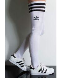 adidas Womens Thigh High Sock - White