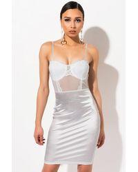 AKIRA All Ur Love Mini Slip Dress - White