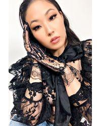 AKIRA Miss Chic Lace Fashion Gloves - Black