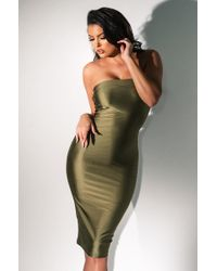 AKIRA - Come Back Baby Bodycon Midi Dress - Lyst