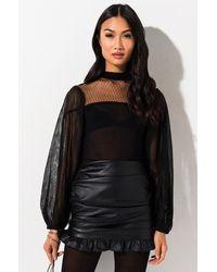 AKIRA All Mine Long Sleeve Bodysuit - Black