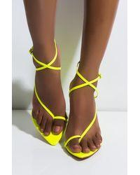 AKIRA Sudden Change Wedge Sandal - Yellow