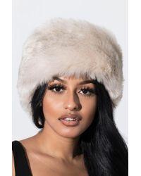 AKIRA - Baby It's Cold Outside Faux Fur Headband - Lyst