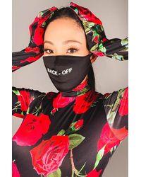AKIRA Back Off Fashion Face Cover - Black