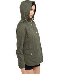 AKIRA Cargo Jacket- Olive - Metallic
