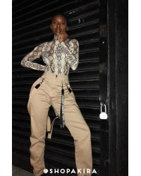 AKIRA - Good Vibes Only Suspender Cargo Trousers - Lyst