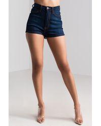 AKIRA - Kayleigh High Rise Denim Shorts - Lyst