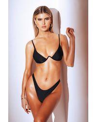AKIRA Get Along With You Underwire Bikini Top - Black