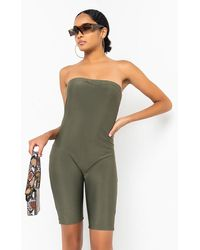 PAXTON Don't Hold A Grudge Tube Top Romper - Green