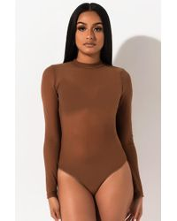AKIRA - She's Gotta Have It Mesh Bodysuit - Lyst