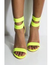 AKIRA Feelin So Good Clear Wedge Heel Sandal - Yellow