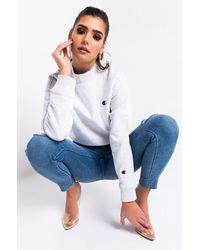 Champion Womens Reverse Weave Mock Neck Crop Sweatshirt - Multicolour