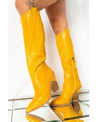 AKIRA Good To You Knee High Boot - Yellow