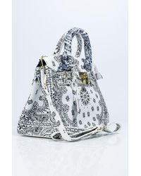 AKIRA Queen Of Spades Double Handle Purse - White