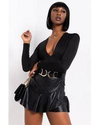 PAXTON Fresh N Clean V-neck Bodysuit - Black