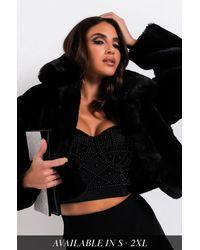 AKIRA - Mi Amor Plush Faux Fur Jacket - Lyst