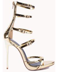AKIRA Tick Tock Strappy Heel - Multicolour