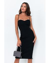 AKIRA Date Night Bandage Midi Dress - Black