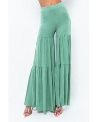AKIRA Sunny Times Flare Pant - Green