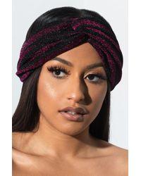 AKIRA - Serena Velvet Headband - Lyst