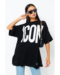 AKIRA - Icon Oversized Shirt Dress - Lyst