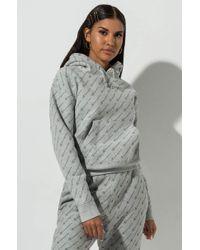 Champion - Reverse Weave All Over Diagonal Tonal Script Print Hoodie Sweatshirt - Lyst