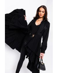 AKIRA For The Love Of Me Belted Trench Coat - Black