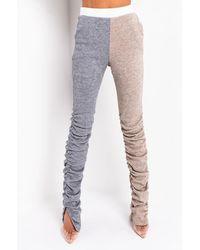 AKIRA Comfy But Cute Ultra Soft Stacked Pant - Grey