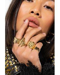 AKIRA Gold NUGGET Ring Set - Metallic