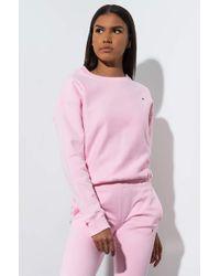 Champion - Womens Small C Reverse Weave Crew Sweatshirt - Lyst