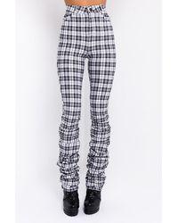 AKIRA California Stacked Pants - White