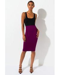 AKIRA Busy Me Pencil Skirt - Purple