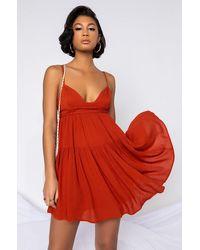 AKIRA Bella Mini Tank Dress - Red