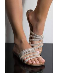 AKIRA - Daydreaming Flat Sandals - Lyst