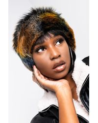 AKIRA Hyde Park Multi Colour Faux Fur Headband - Multicolour