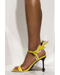 Cape Robbin My Shoes Stay Lit Stiletto Heeled Sandal - Yellow