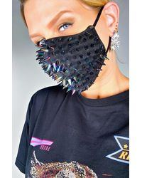 AKIRA Spike Fashion Face Cover - Blue