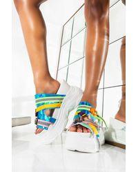 Cape Robbin Catch My Vibe Flatform Sandal - White
