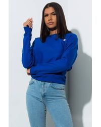Champion Womens Small C Reverse Weave Crew Sweatshirt - Blue